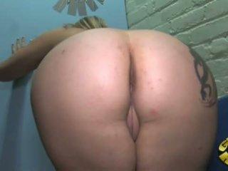 gloryhole, big cock, interracial, interracial porn