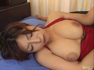 Big boobed asian Naho Hazuki gets her cunt licking