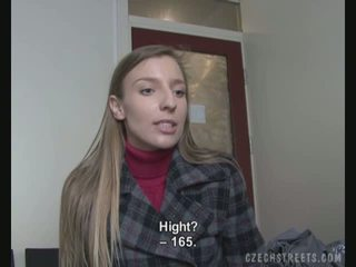 Casting video with an amateur street girl
