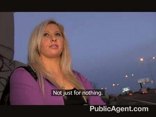 PublicAgent - Blonde accepts sex for money