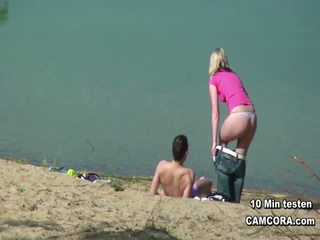 quality voyeur, rated flashing thumbnail, outdoors scene