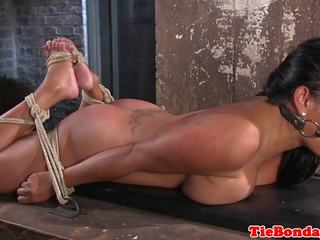 Ebony BDSM Sub Squirts While Being Toyed, Porn a2