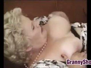 Kövér és dögös nagyi enjoying egy fasz