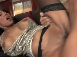 Beautiful latin milf in stockings fucks daugter's boyfriend