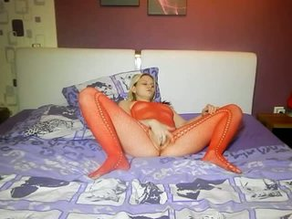Fingering in a Red Catsuit, Free Amateur Porn 79