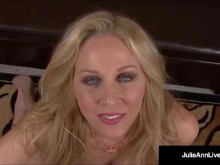 Mega birichina milf julia ann talks sporco & profondo throats