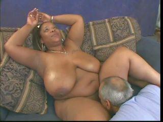 čierna a ebony, interracial, veľká prírodná prsia