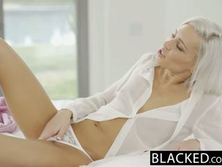 Blacked preppy cô gái tóc vàng bạn gái kacey jordan cheats với bbc