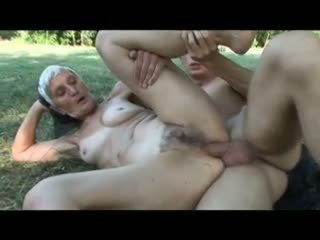 Granny farmer likes it hard and young