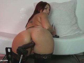 Anal riding a fucking machine & More