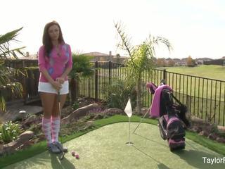 Povekas vauva taylor plays a seksikäs pyöreä of golfia: vapaa porno 7e