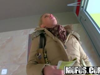 MOFOS - Sexy Bus Blonde Adele gets picked up and fucked hard