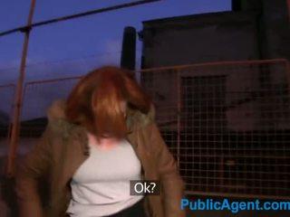 PublicAgent Ginger women fucks a stranger in his car for cash - Porn Video 851