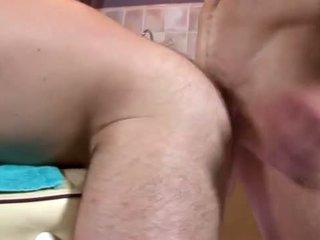Masseur licks ass before ass fucking