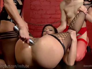 Hot Lesbian Anal Fisting Threesome