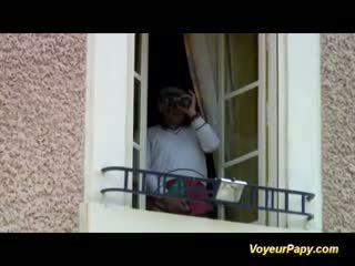 Voyeur Papy In French Teen Gangbang
