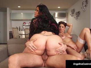 Cuba's Angelina Castro Gives a Blowjob & Has Threesome