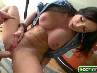 Beautifu brunette milf Kendra Lust goes down on young guy 25
