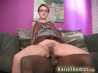 Katie 打 同 一 巨大 黑色 公鸡