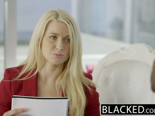 Blacked kinh doanh cô gái tóc vàng anikka albrite ass fucked lược qua một bbc