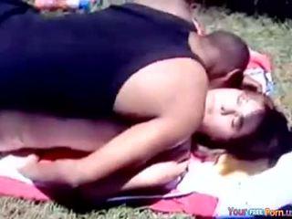 Black Guy Fucks Chubby Girl Outdoor