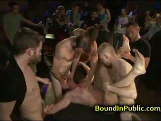 Muscle baldheaded gay face fucked