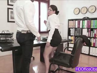 Hot Secretary Valentina Nappi fucked by his boss inside the office
