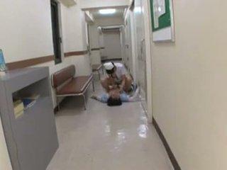 japanse, alle femdom scène, vol verpleegster
