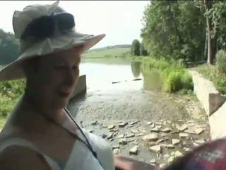 beste oma, u buiten-, kijken oude farts