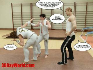 Kung fu guys 3d gej kreskówka animated comics