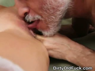 Huge Titty Blonde Teen Girl With Old Man On Floor
