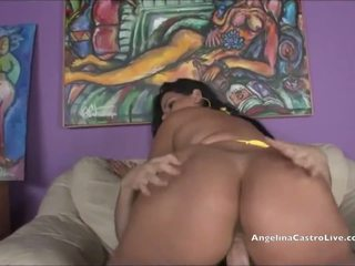 Angelina Castro Gets a Massive CUM SHOWER!