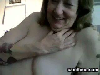 Dirty Grandma Teases Her Old Body