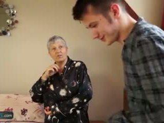 stary, gilf, starszych, babcia