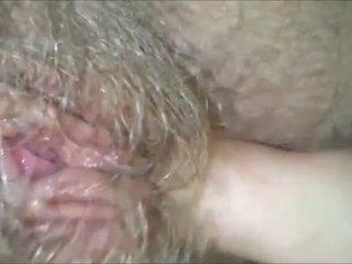 Licking 彼女の 毛深い, ぬれた, おばあちゃん puss