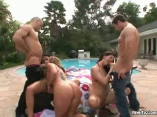brunette, groupsex, squirting