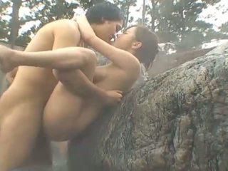 japonais, sexe publique, gros seins, groupe