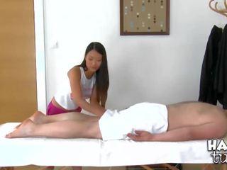 Boy begins fucking right inside massage saloon