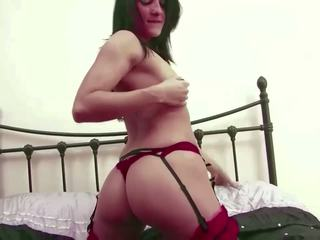 Married Slut Wife Jen B Strips and Cums for Hubby and