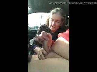Grandma Sucks in the Car, Free Cum Swallowing HD Porn c6