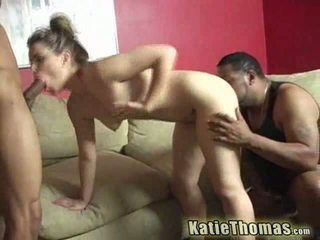 Katie taking a black cock deep