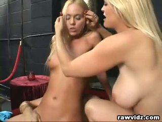 Perv Old Man Bangs Two Hot Blonde Girls