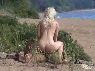 voyeur, zien strand scène, heetste buitenshuis actie