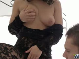 brunette, blowjob video, most babe