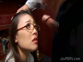 Gorgeous secretary works extra hours with her gifted boss