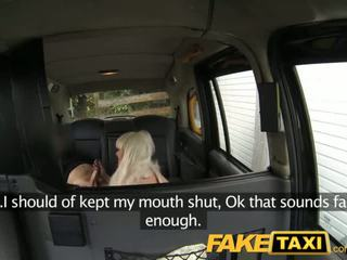FakeTaxi Blonde gets covered in spunk facial - Porn Video 951