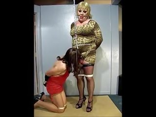 Gina Ropeburn Tied to slut Cynthia