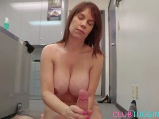 Bigtitted Office MILF Tugging with Twohands: Free Porn cb