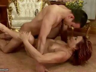 Boy fucks naughty redheaded granny