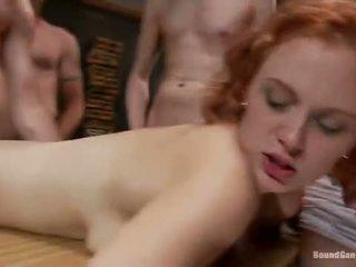 group sex, kissing, redhead